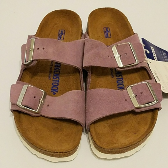 d3c72a163 New Birkenstock Arizona Suede Soft Footbed Sandals